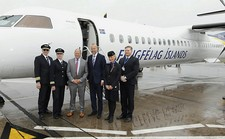 Icelandair's inaugural flight left Belfast today