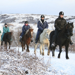 Horseback and Blue Lagoon
