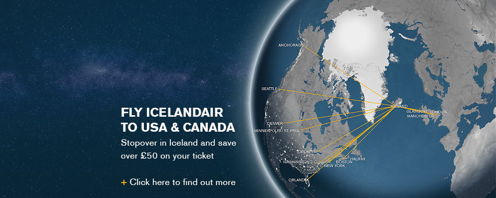 FLY ICELANDAIR TO 10 DESTINATIONS IN US & CANADA