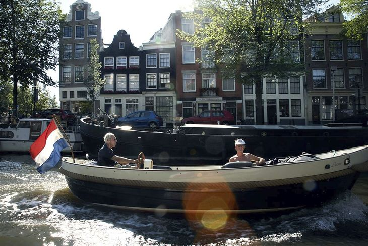 Amsterdam boat canal