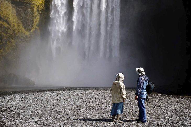 Skogafoss people