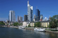 Frankfurt skyline river view