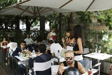 outdoor cafe milan