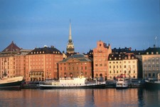 stockholm harbour water skyline