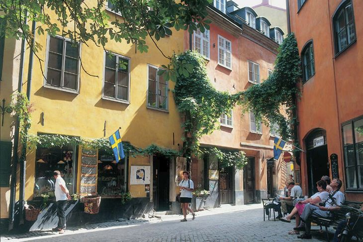 stockholm old houses center