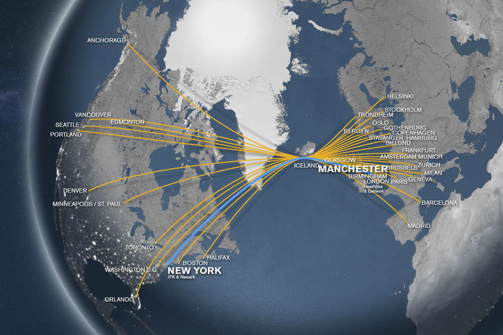Flights from Manchester (MAN) to New York (JFK)