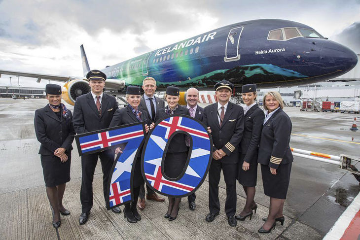 Icelandair boosts Glasgow flights to celebrate 70 years of flying to Scotland